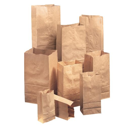 Paper Bags Sacks BAG GX2560S 25 Natural Extra Heavy Duty Squat Paper Bag 500Bundle