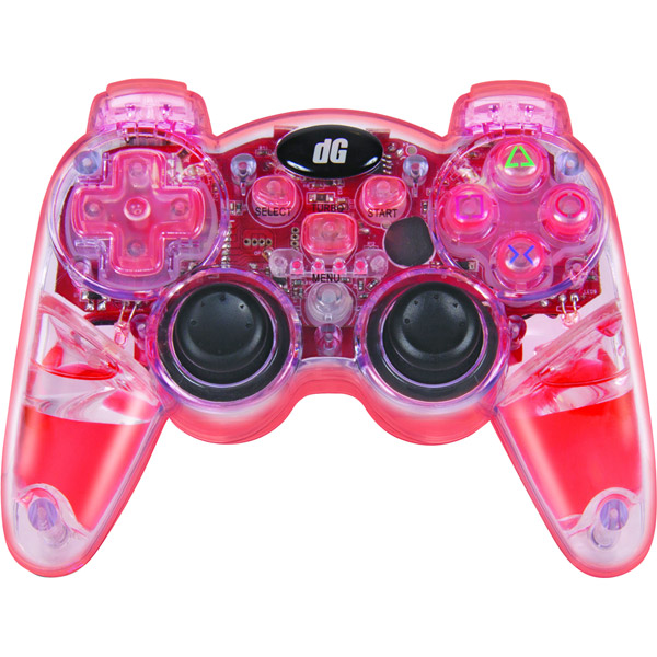 Dreamgear Lava Glow Wireless Controller for PS3 PS3 Slim Red
