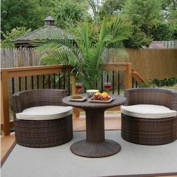Deeco Consumer Products DM-GV-505 Art-Deck-Oh Geo-Vino interlocking all weather wicker furniture set