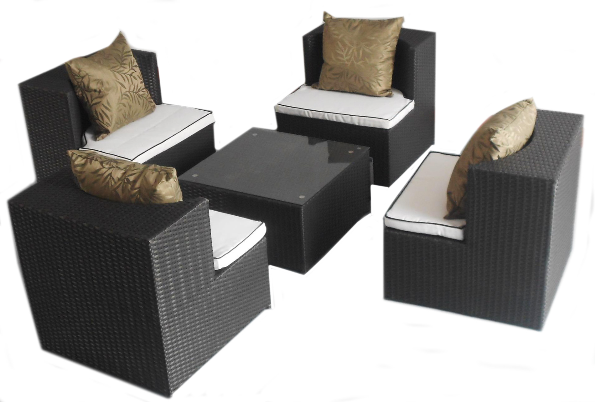 Deeco Consumer Products DM-GC-504 Art-Deck-Oh Geo-Cube interlocking all weather wicker furniture set at Sears.com