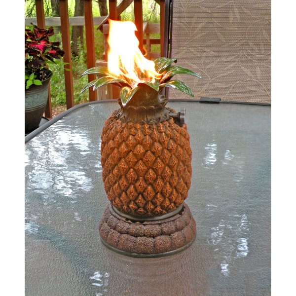 Empire Comfort Systems HWT01PTTPB Twilight by Housewarmer Pineapple Tiki Torch With Molded Resin Body And Enameled Steel Leaves