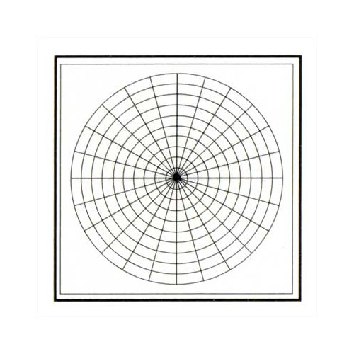 Marsh Industries Pr-404-M1Pc Pro-Rite 48X48 Aluminum Trim Porcelain Markerboard With Polar Coordinates And With 1 In. Map Rail - White