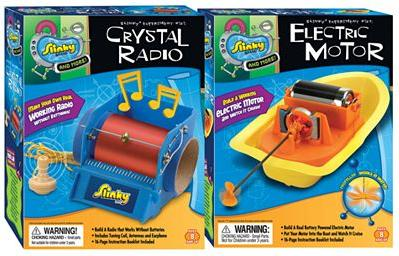 POOFSlinky 03003 Crystal Radio Electric Motor Combo Pack