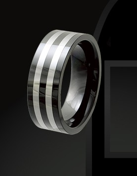 Rising Time TCR-3081-sz-10 Tungsten Ceramic Band Size-