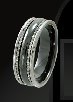Rising Time TCR-3096-sz-9 Tungsten Ceramic Band Size-