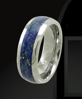 Rising Time TN-3107-sz-9 Tungsten Band With Lapis Lazuli Stone Inlay Ring Size- 9