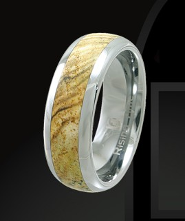 Rising Time TN-3108-sz-9 Tungsten Band With Star