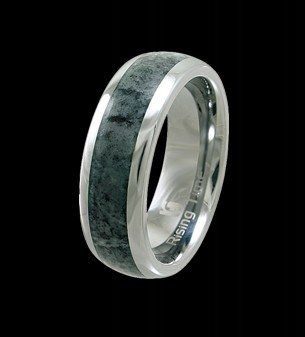 Rising Time TN-3109-sz-11 Tungsten Band With Seraphinite Stone Inlay Ring Size- 11