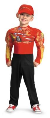 Costumes For All Occasions DG27237L Lightning Mcqueen Muscle 4-6 MRRS23645