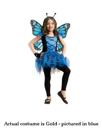 Costumes For All Occasions FW114072LG Large Ballerina Butterfly - Gold MRRS24742