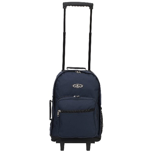 Everest 1045WH-NY 17 in. Telescoping Rolling Backpack