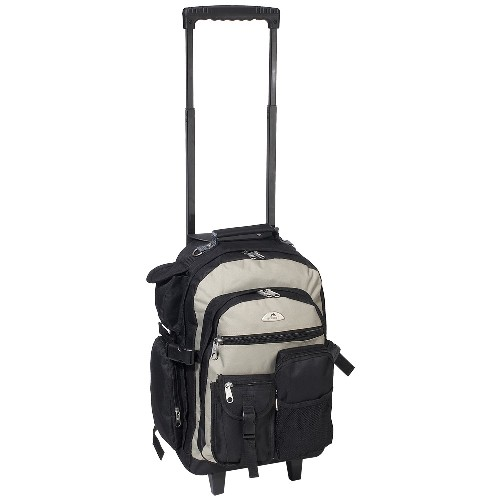 Everest 5045WH-KK 18.5 in. Deluxe Rolling Backpack