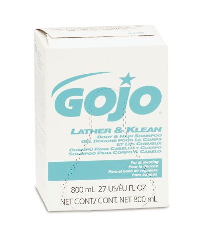 Gojo Industries GOJ 9126-12 Lather and Klean Body and Hair Shampoo