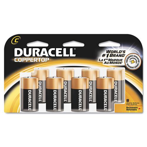 Duracell DRC MN14RT8Z Coppertop Alkline C-Cell Reclosable