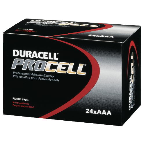 Duracell DRC PC2400BKD Procell ndustrial Alkaline Batteries AAA-Cell