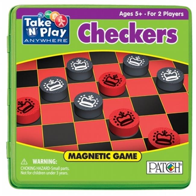 SMETHPORT SPECIALTY COMPANY 671 Checkers for 2 Players  - Pack of 6