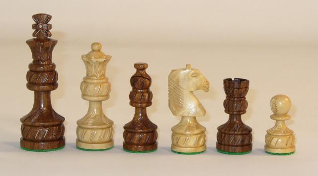 Chopra 40SRP Sheesham Royal Plus Carved Chess Pieces