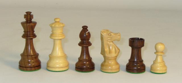 Chopra 1001SF375 Standard Sheesham and Boxwood Chess Pieces