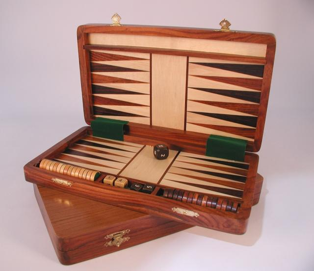 Chopra 62512 Sheesham Wood Folding Magnetic Backgammon Set