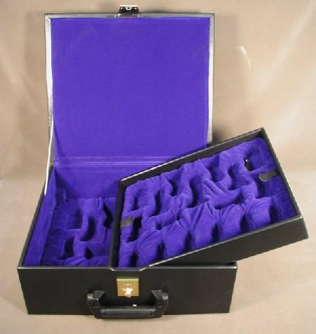 Chopra BVBXS Black Vinyl Chess Storage Box for 5.5 in. King