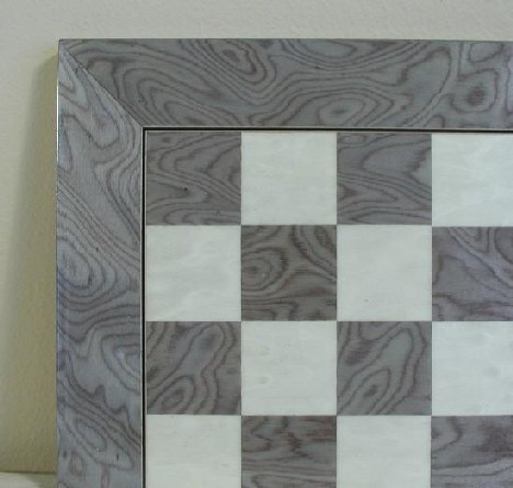 Gianfranco Ferre Ferrer 45440GY 17.3 in. Glossy Wooden Chess Board - Briar Wood with Grey and Ivory at Sears.com