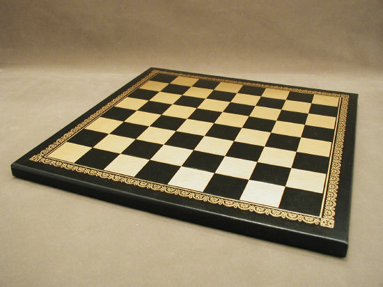 Ital Fama 201GN 13 in. Pressed Leather Board - Black and Gold