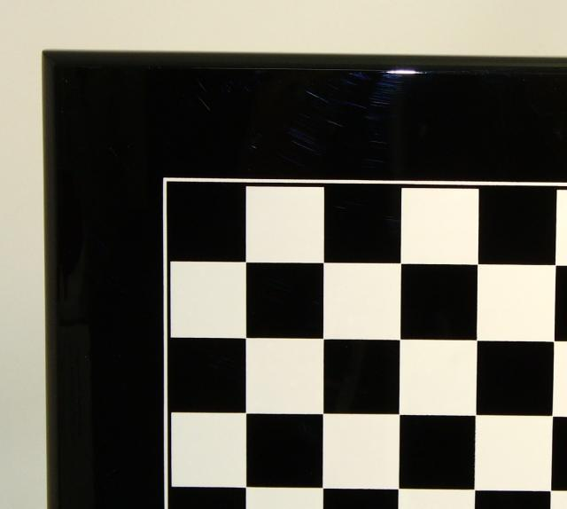 Ital Fama 341BW Wood Lacquered Black Chess Board