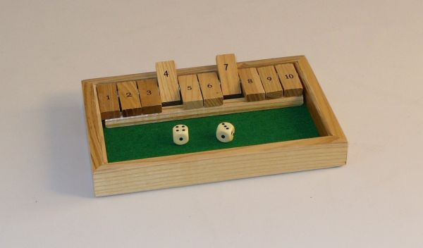 "Square Root SQ24 8-1/2"" x 5-1/2"" Shut the Box"