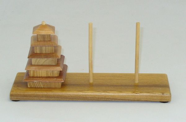 Square Root SQ27 Wooden Pagoda Puzzle