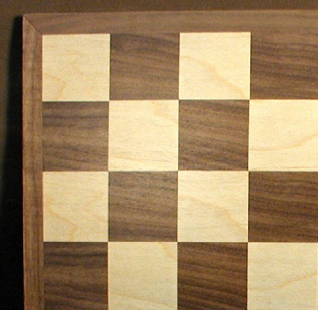 WW Chess 95815 15 in. Walnut-Maple Chess Board