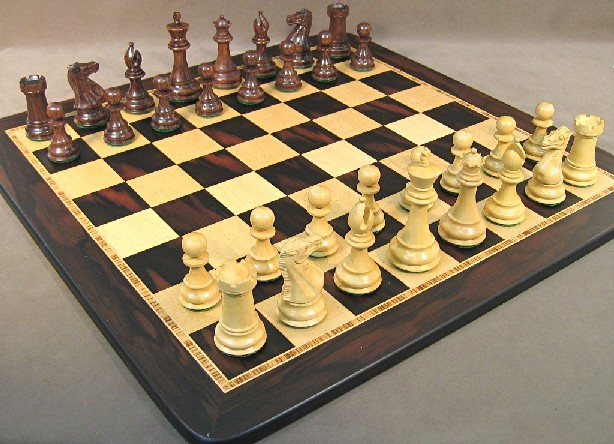 WW Chess 40SE-EBM Sheesham Exclusive Chess Set
