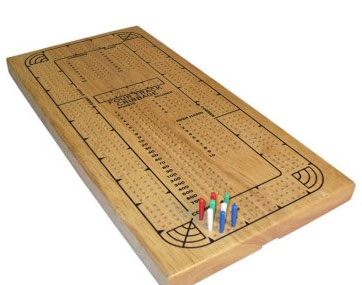 WWI 33504 Natural Wood Continuos Track Cribbage WWI593