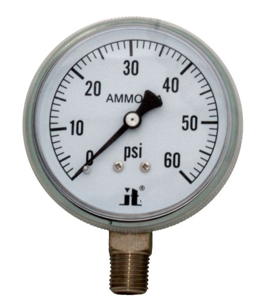 Zenport Industries APG60 0 G�� 60 PSI Ammonia Pressure Gauge