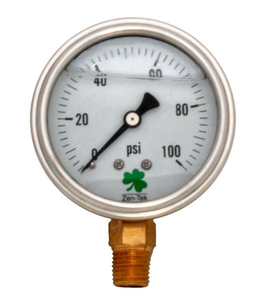Zenport Industries LPG100 0 G�� 100 PSI Low Pressure Gauge