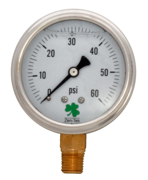 Zenport Industries LPG60 0 G�� 60 PSI Low Pressure Gauge
