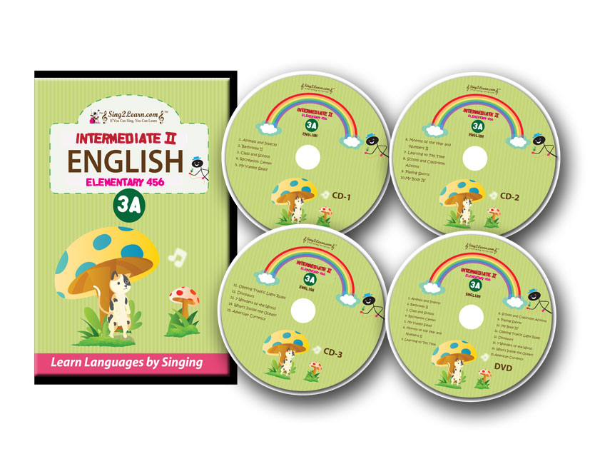 Sing2Learn English-3A-combo Intermediate 2 English DVD-CD-HB 301-315