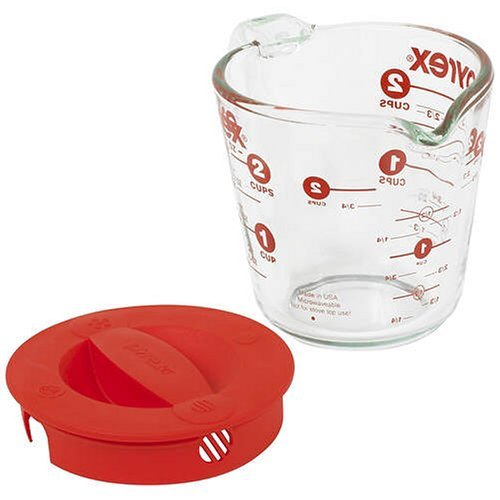 Pyrex 1055163 2-Cup Measuring Cup with Lid WRK002
