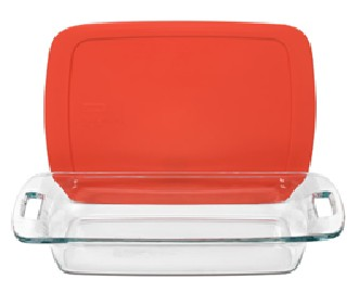 Pyrex 1090949 Easy Grab 3qt  Oblong Dish with Red Cover