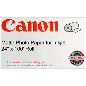 Canon 0849V349 Matte Coated Paper  170 gsm  24'' x 100 feet  Roll