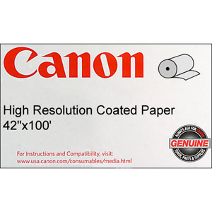 Canon 1099V651 High Resolution Coated Bond Paper  42'' x 100 feet  Roll