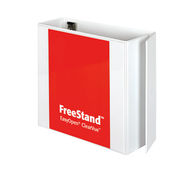 Cardinal 43140CB EasyOpen FreeStand Binder With Locking Slant-D Rings  4'' Capacity  White