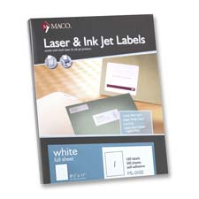 Mac ML1400 White All-Purpose Labels  1 1/3 x 4  1400/Box