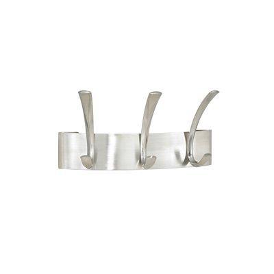 Safco 4204SL Metal Coat Racks  Silver. Steel  Wall Rack  Three Hooks