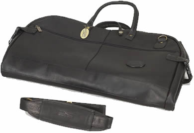Claire Chase 207E-black Garment Sleeve Tri-Fold - Black