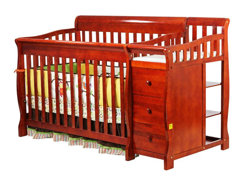 Dream on Me 620-C 4 in 1 Brody Convertible Crib with Changer - Cherry