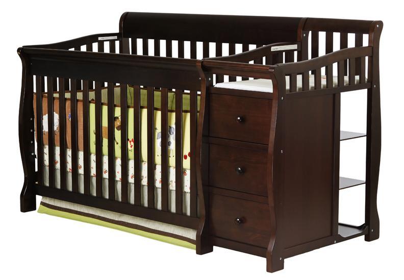 Dream on Me 620-E 4 in 1 Brody Convertible Crib with Changer - Espresso