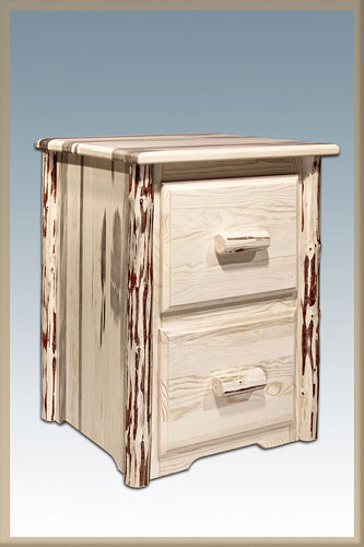 Montana Woodworks MWFC2V File Cabinet with 2 Drawers - Clear Lacquer