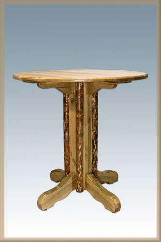 Montana Woodworks MWHCPTV Homestead Center Pedestal Table