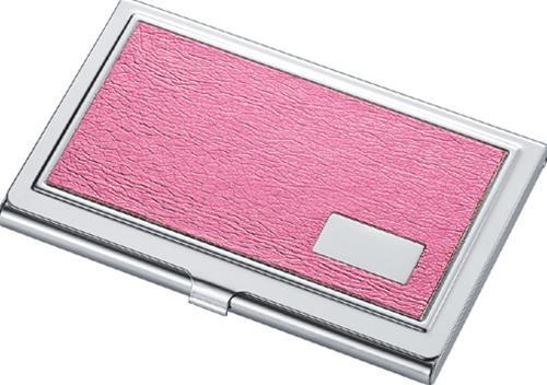 Visol V102B Catch Synthetic Leather Business Card Case