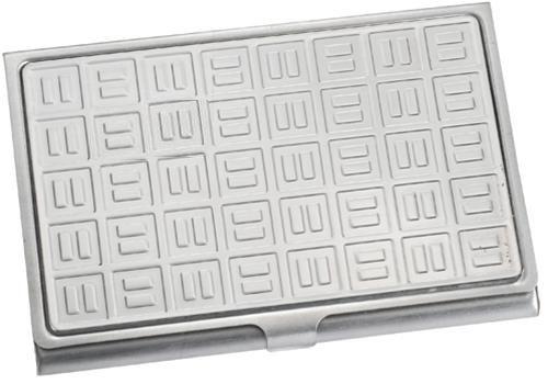 Visol V200B Domino Stainless Steel Business Card Case